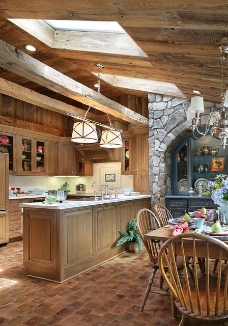 Shingle style home rustic-kitchen