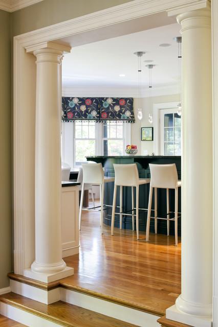 Shingle Style Kitchen Columns contemporary-kitchen
