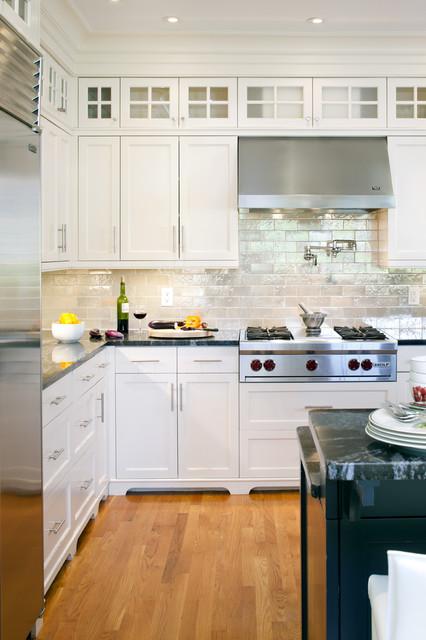 Shingle Style Kitchen Detail transitional-kitchen