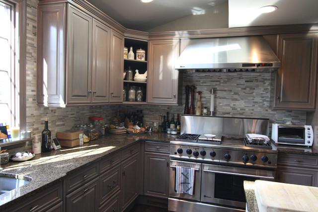 Short Hills Nj Faux Painting Kitchen Cabinet Renovation