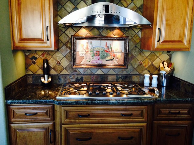 Shots And Salsa Mexican Hy Hour Hand Painted Tiles Kitchen Backsplash