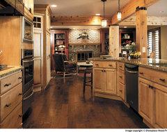 Dark floors, Light cabinets?