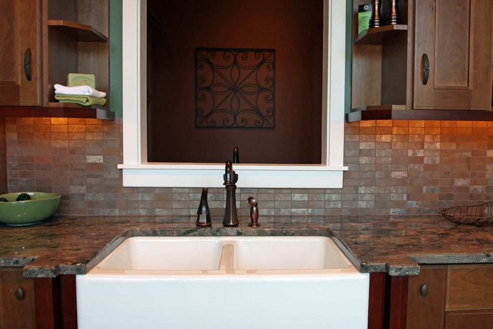 Elegant kitchen photo in Seattle