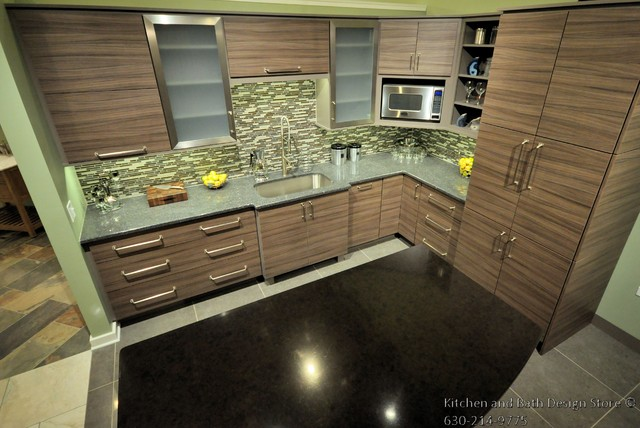 showroom kitchen display transitional chicago by