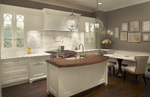 Showroom kitchens for Butter cream colored kitchen cabinets