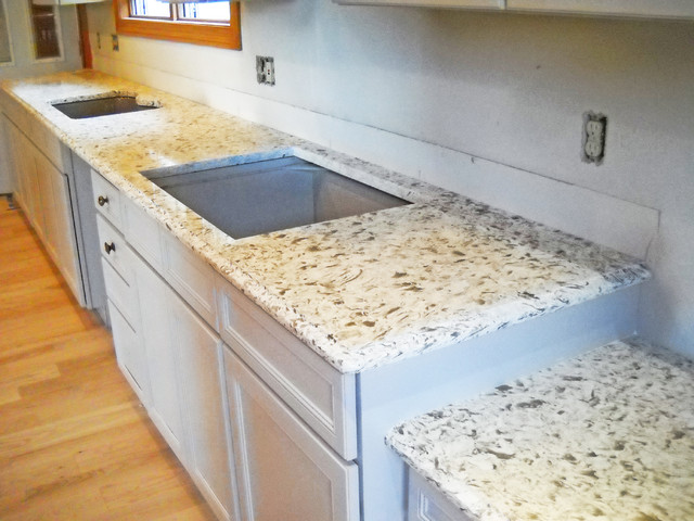 Siberian White ColorQuartz Kitchen