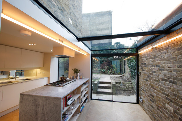 Side Infill Extensions Contemporary Kitchen