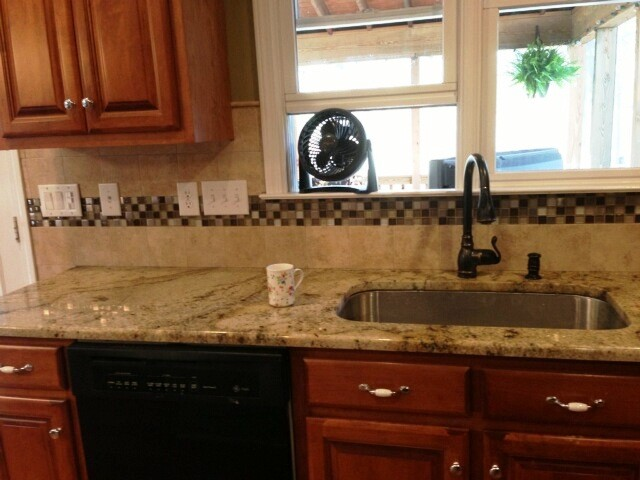 Granite Countertops Charlotte NC Sienna Beige Medium color cabinets 4