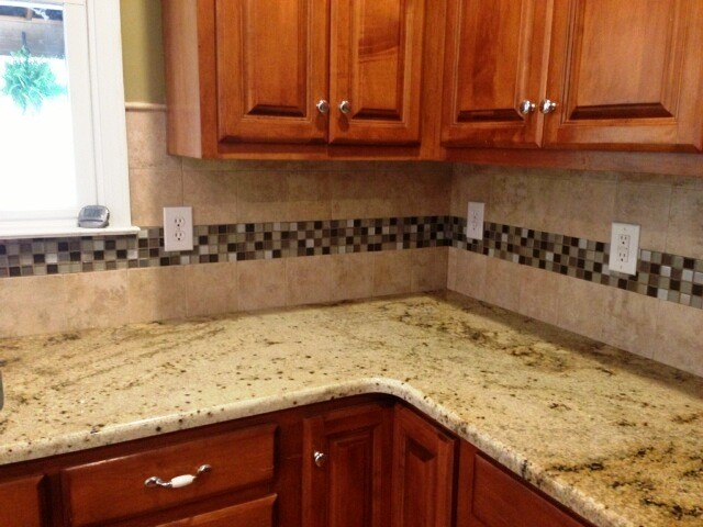 SIENNA BEIGE Granite on Medium colored wood cabinets 4 9 13 - Traditional - Kitchen - charlotte ...