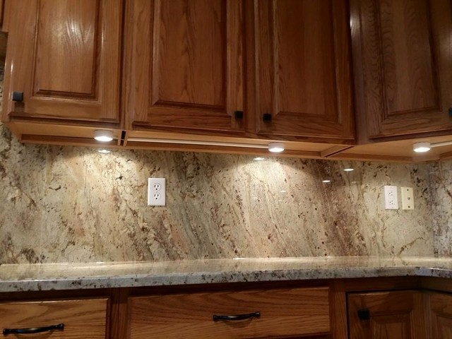 Sienna Bordeaux Full Height Backsplash Project