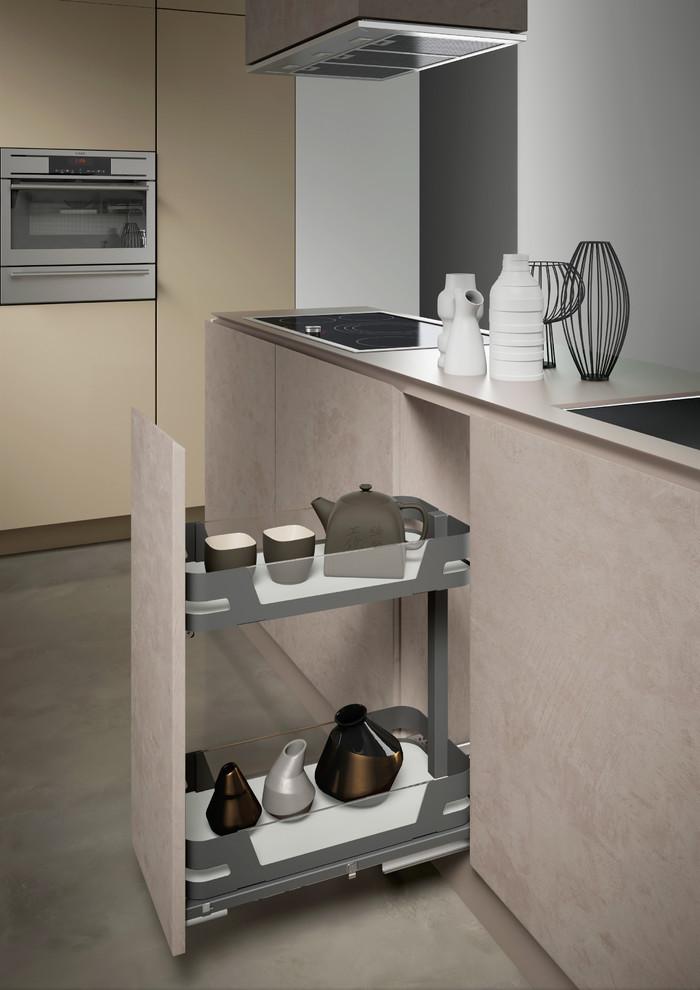 Sige Materia Evo 300x400 Mm Bottle Rack Kitchen Cupboard Storage Modern Kitchen Melbourne By Wilson Bradley