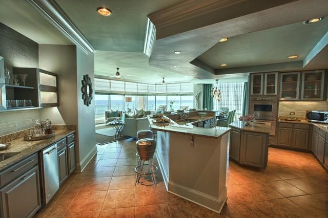 Signature Beach Condo   Cara McBroom & Joey LaSalle beach-style-kitchen