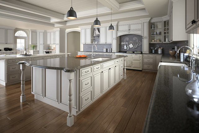 Signature Pearl Kitchen Cabinets - Traditional - Kitchen - New ...