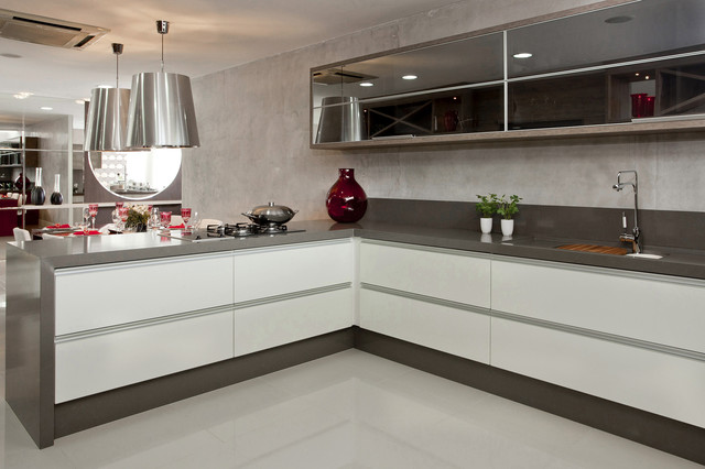 Silestone Cemento Kitchen Contemporary Seattle By Cosentino Center