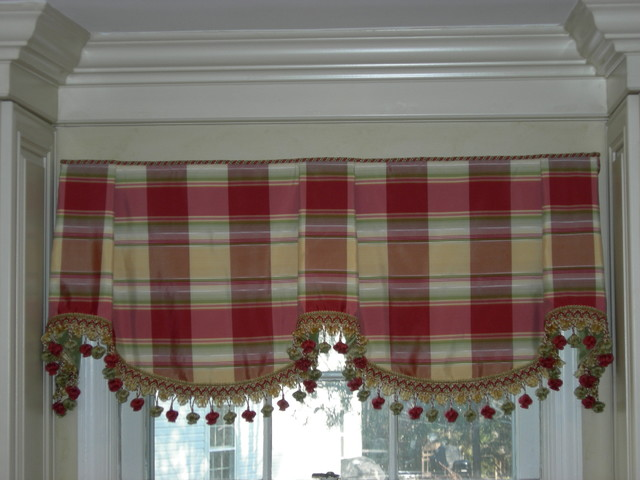 Silk Sheffield Valance traditional kitchen