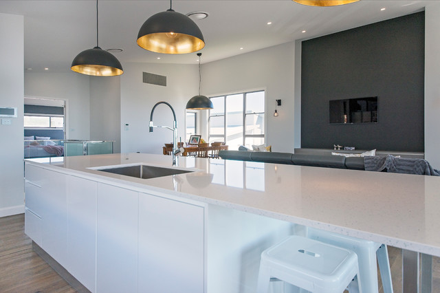 Silstone blanco maple orna kitchen vanities and laundry for Kitchen designs newcastle