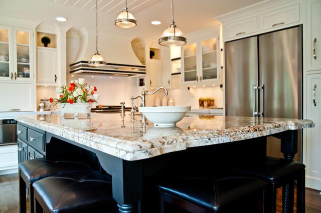 Silver And Gold Granite And Quartz Countertops