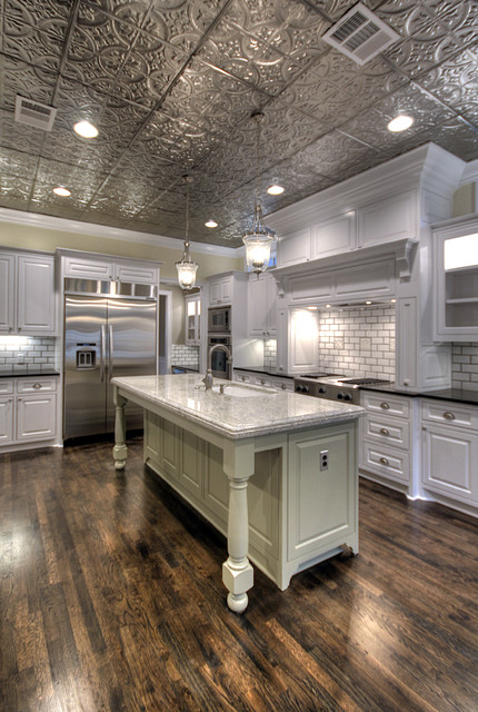 rustic cabin ceiling ideas - Tin Ceilings Kitchen Traditional Kitchen Tampa