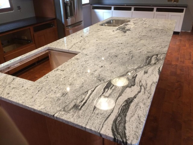 Silver Cloud Granite Kitchen Indianapolis Indy