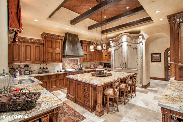 Silverleaf Scottsdale Custom Home Mediterranean Kitchen Phoenix By Sommer Custom Homes