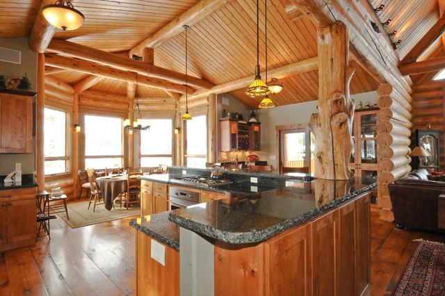 Silverthorne Hybrid Log Solar Rustic Kitchen Denver
