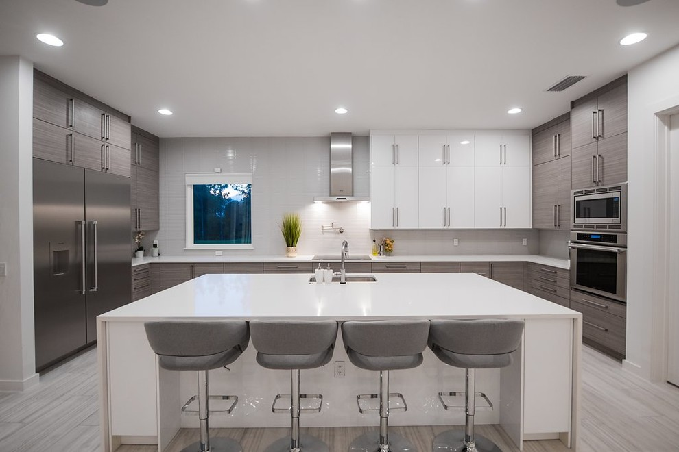 Silverton Textured Melamine Kitchen And Bathroom Contemporary Kitchen Tampa By The Cabinet Face