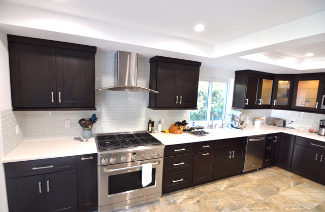 Simi Valley Kitchen Complete Remodel Modern Kitchen Los Angeles By Flat Rate Remodeling Inc