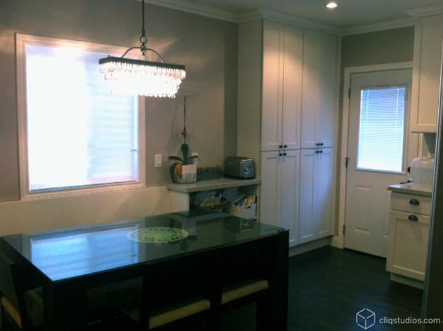 Simple Classic White Kitchen contemporary-kitchen
