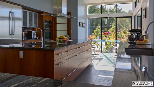 Simple Elegant Contemporary Kitchen Other By Architrave Architecture Design Build Ltd