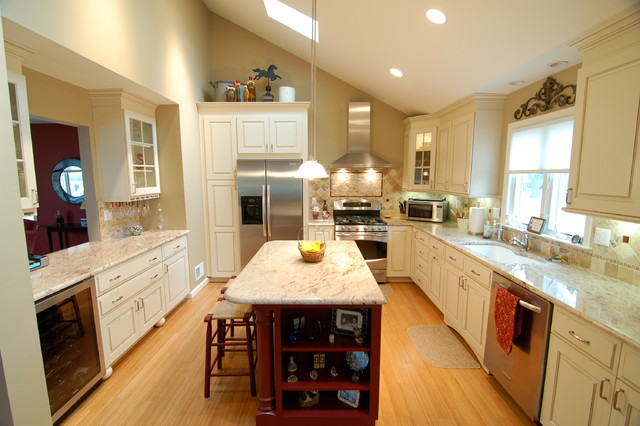 Simple open kitchen traditional kitchen newark by for Traditional kitchen meaning