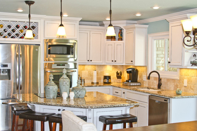 simple white kitchen  traditional  kitchen  dallas  by, Kitchen
