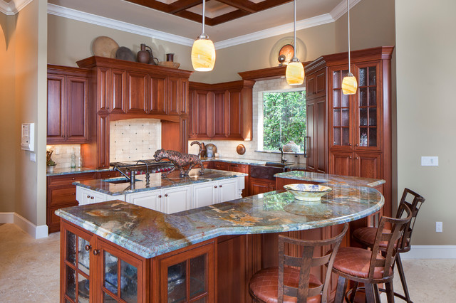 Single Family Homes Traditional Kitchen Miami By