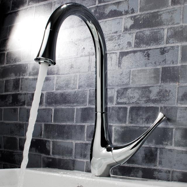 Single Handle Kitchen Sink Faucet Chrome YJ-1018 ...
