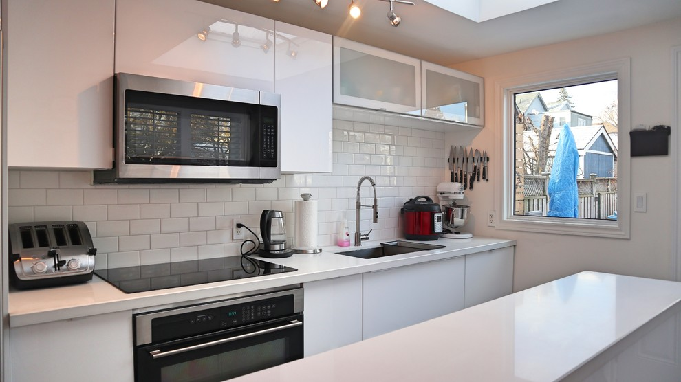 Single Wall 18 Ikea Kitchen With 6 Island Ringhult High Gloss Ikea Finish Kitchen Toronto By Easy Afford Kitchen Installation Inc