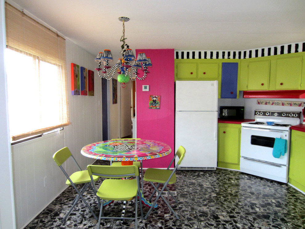 Inspiration for an eclectic kitchen remodel in Charlotte