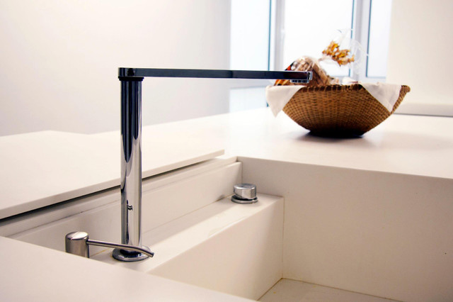 Sink With Hidden Faucet Modern Kitchen Other Metro By Isolina Mallon Interiors