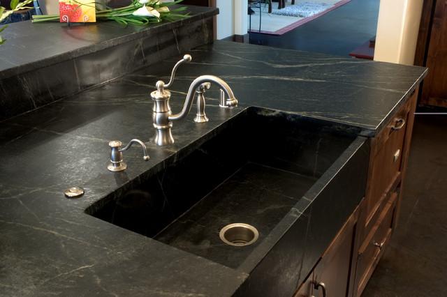 Sinks for soapstone countertops modern kitchen san - Kitchen sinks san diego ...