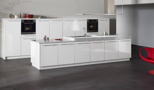 SINTESI by Snaidero design - Beijing white gloss laminate contemporary-kitchen
