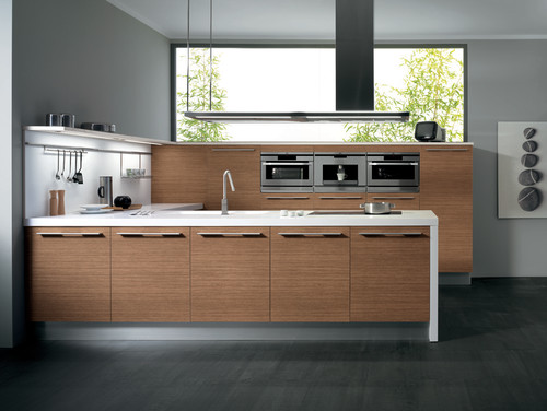 SINTESI by Snaidero design - Daniela walnut melamine contemporary kitchen