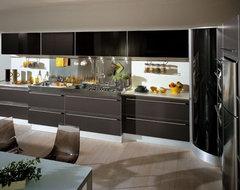 SINTESI by Snaidero design - Graphite grey laminate contemporary-kitchen