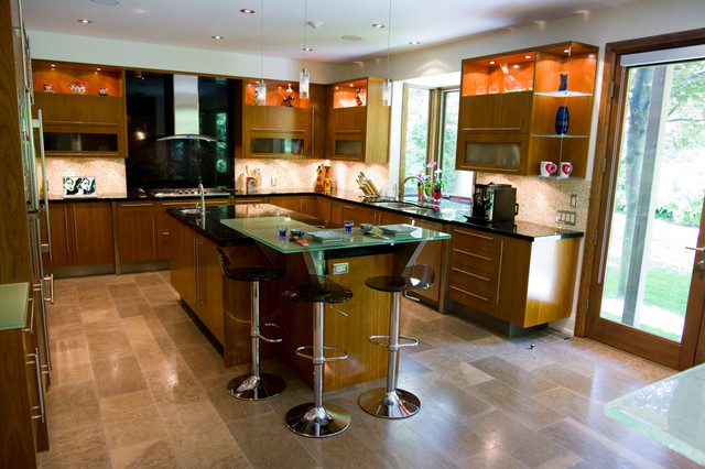 Sisters in Sync contemporary-kitchen