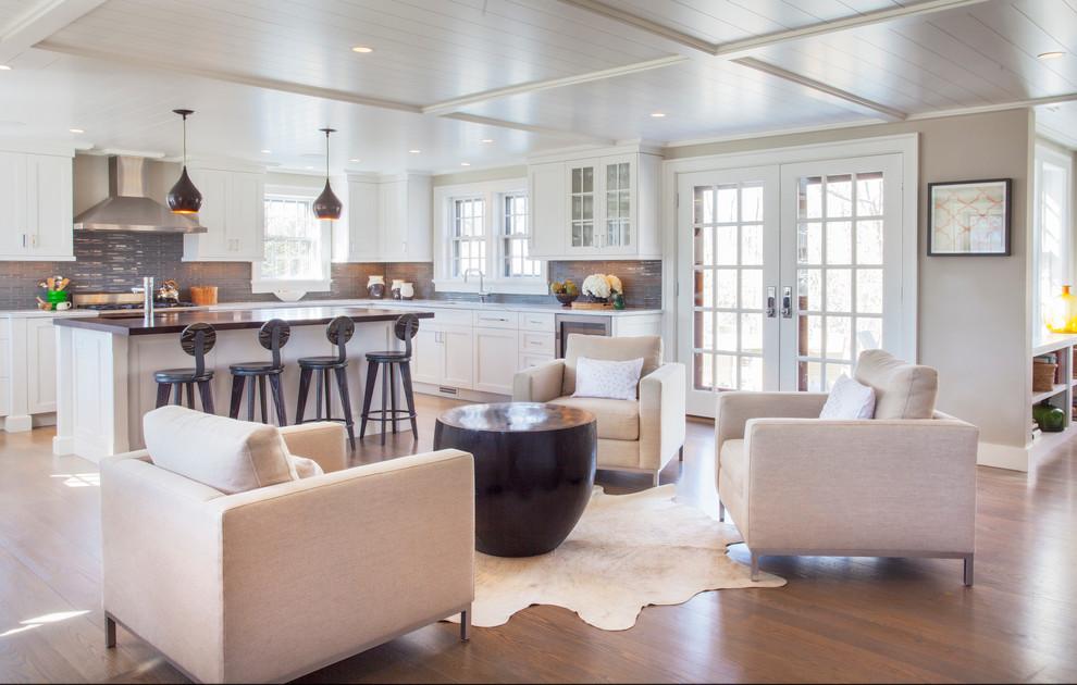 Sitting Area Off Kitchen Transitional Kitchen Boston By Anne Becker Design Houzz