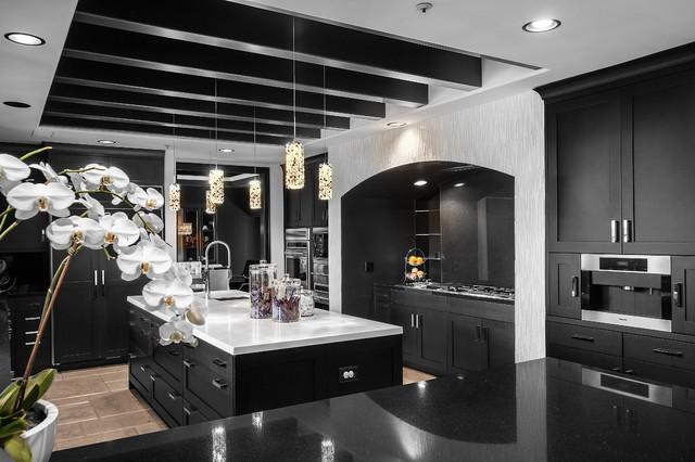 Sjc Dramatic Remodel Contemporary Kitchen Orange