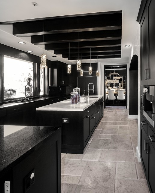 Sjc Dramatic Remodel Contemporary Kitchen Orange County By Orange Coast Interior Design