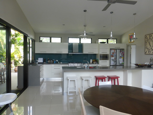 Skillion Roof Extension Contemporary Kitchen Cairns By Edge On Design