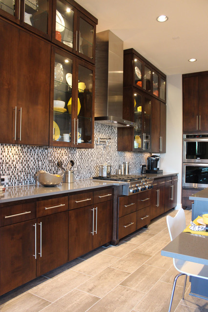 Slab veneer cabinet doors in select walnut by taylorcraft for Veneer for kitchen cabinets