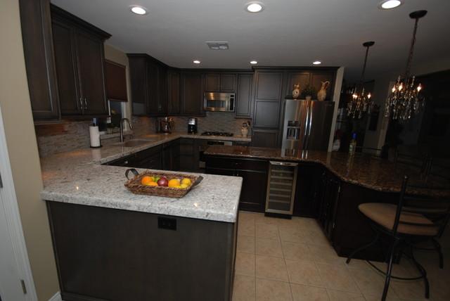 Slate With Ebony Glaze New Quay Transitional Kitchen