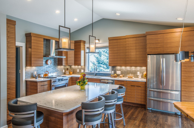 New This Week 4 Contemporary Kitchens With Wood Cabinets