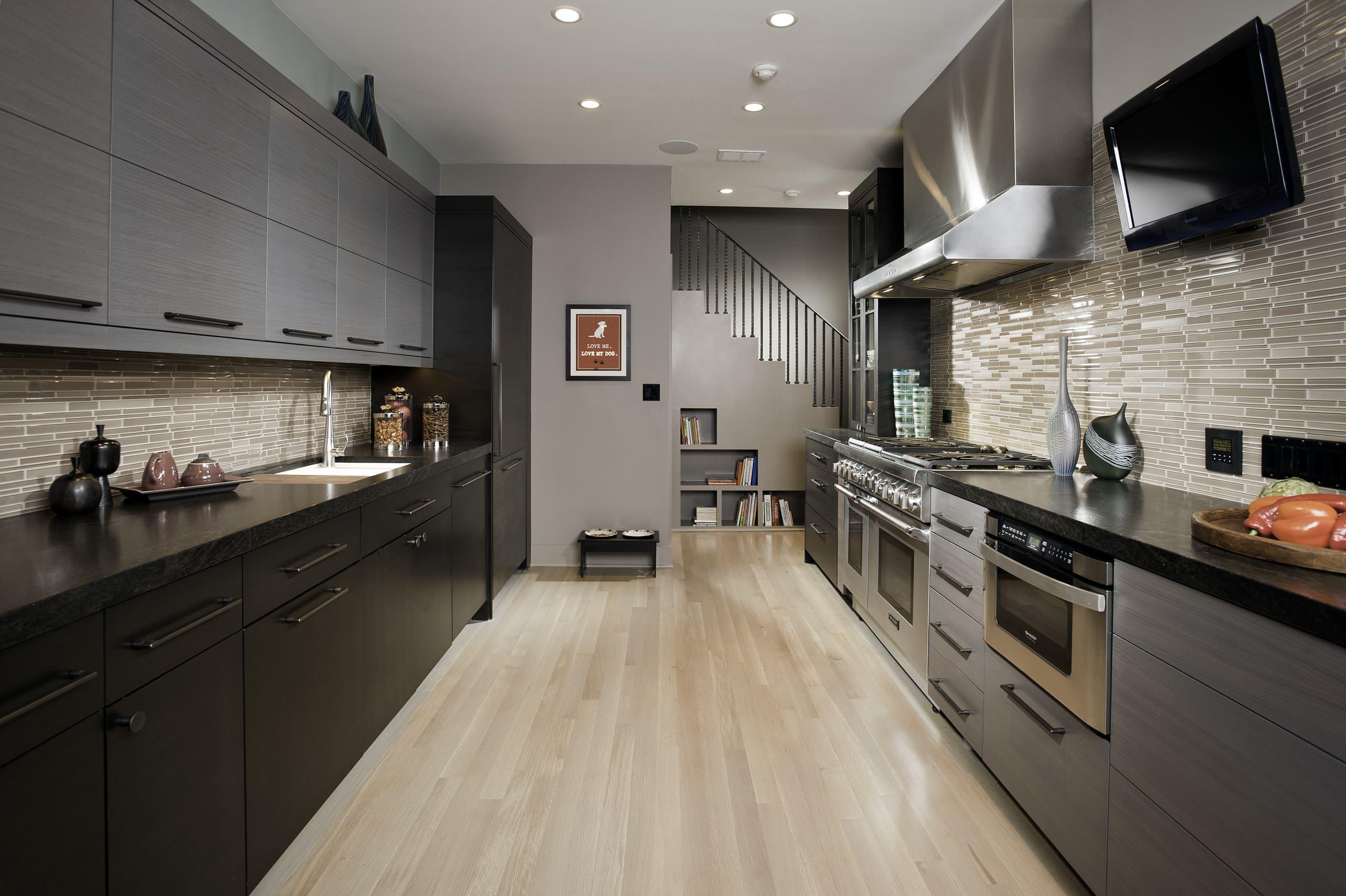 Straight Line Kitchen Ideas Houzz