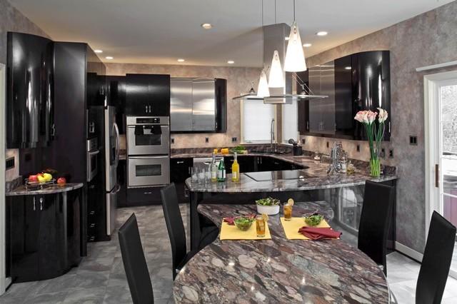 Sleek, Modern Eat in Kitchen 2  Modern  Kitchen  Baltimore  by
